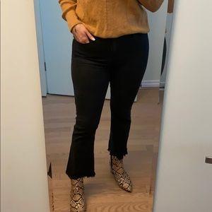 Madewell Cali Demi-Boot Jean in Washed Black